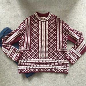 NWOT Tory Burch symmetric sweater